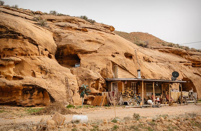 Cabin in the desert