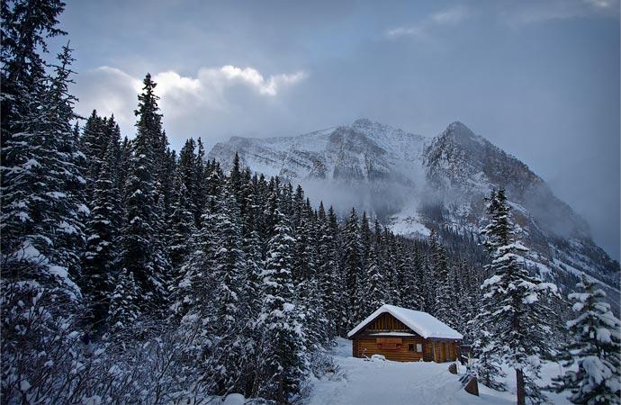 Winter Cabin Porn