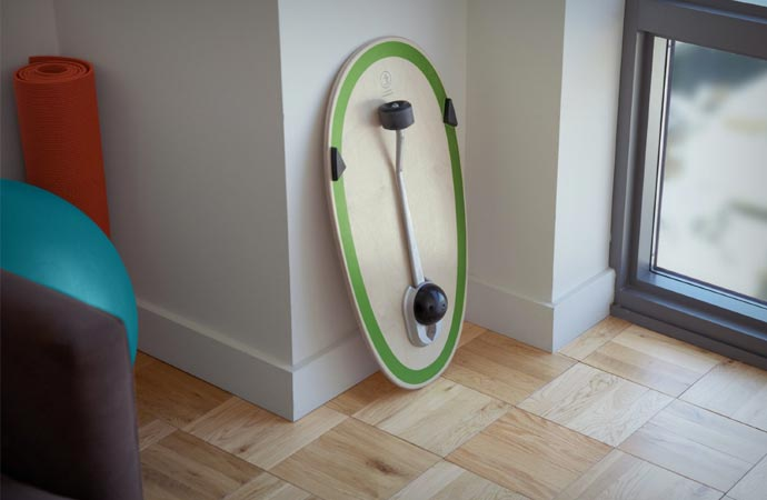 Balance board fitness equipment