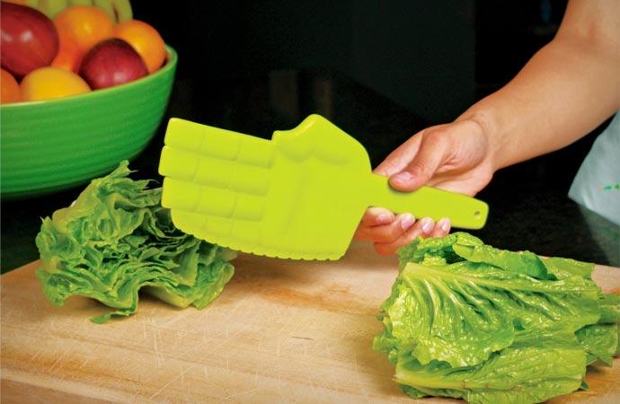 Karate lettuce chopper knife