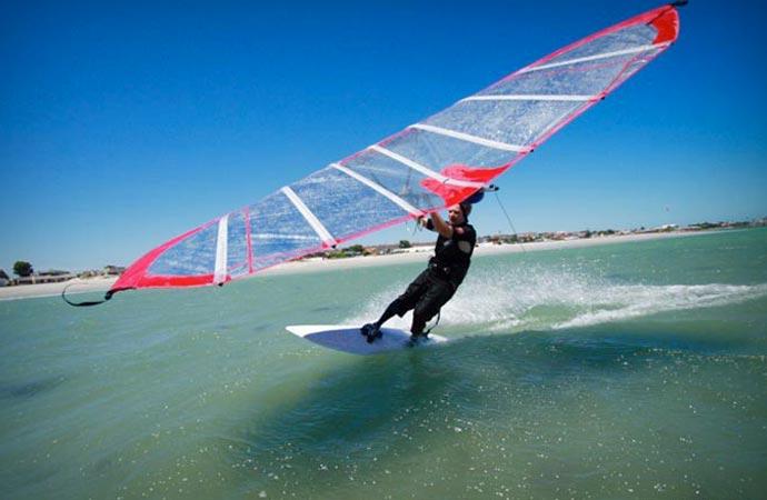 Kitewing on water