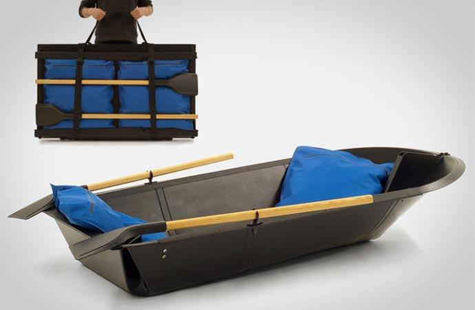 Folding rowboat