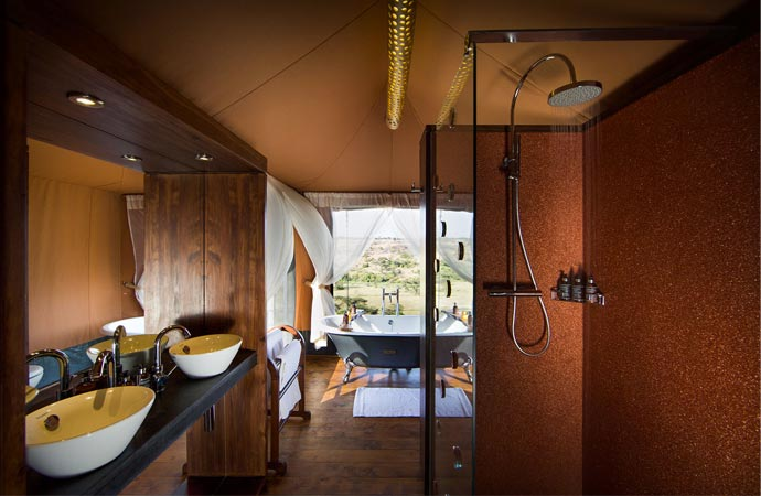 Room at the Mahali Mzuri safari camp