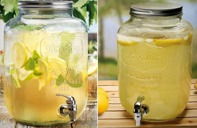 Georgia Peach Mason jar beverage dispenser