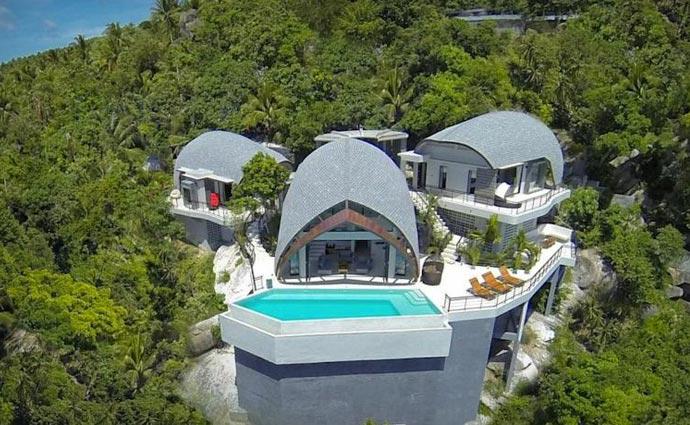Architecture of Moon Shadow Villa in Thailand
