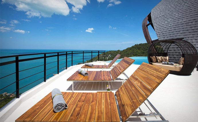 View from Moon Shadow Villa in Thailand