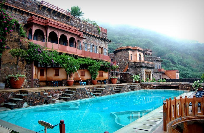 Swimming pool at Neemrana Fort Palace