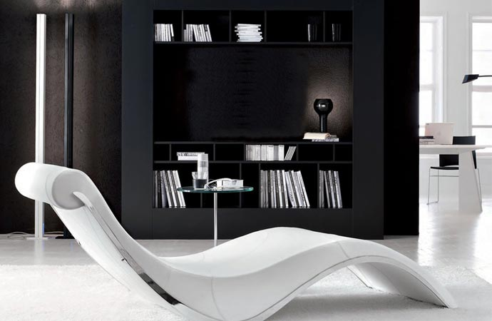 Cattelan Italia leather chaise longue