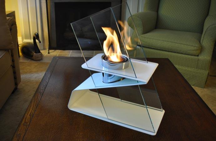 Indoor fire burner