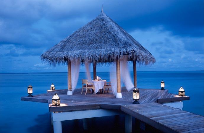 Dining at Taj Exotica Resort