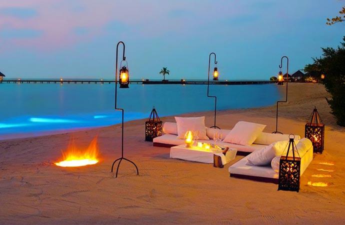 Beach lounging at Taj Exotica Resort