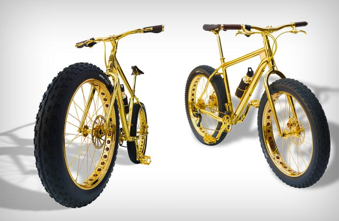 1 million dollar gold bike