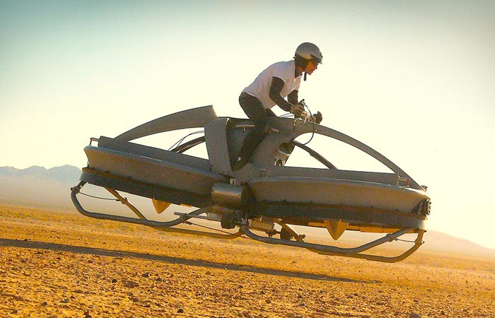 Aero-X hoverbike test flight