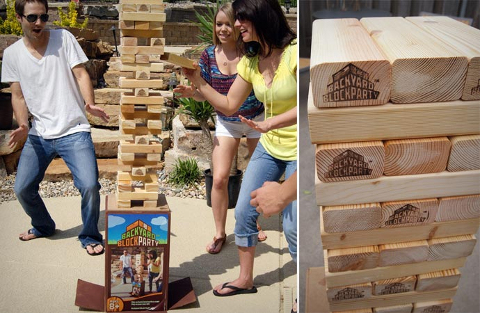 Backyard block party game