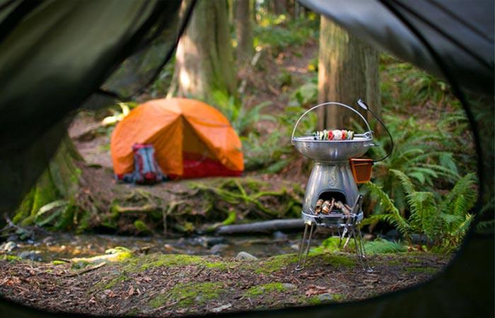 Biolite Basecamp stove for camping