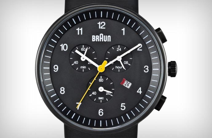 Braun gents chronograph dial