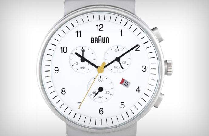 Braun gents chronograph in white