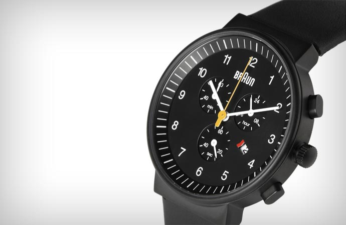 Braun gents chronograph in black