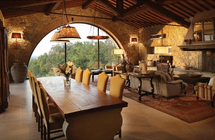 Dining at Castello Di Casole