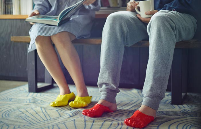 Fondue slippers outdoor use