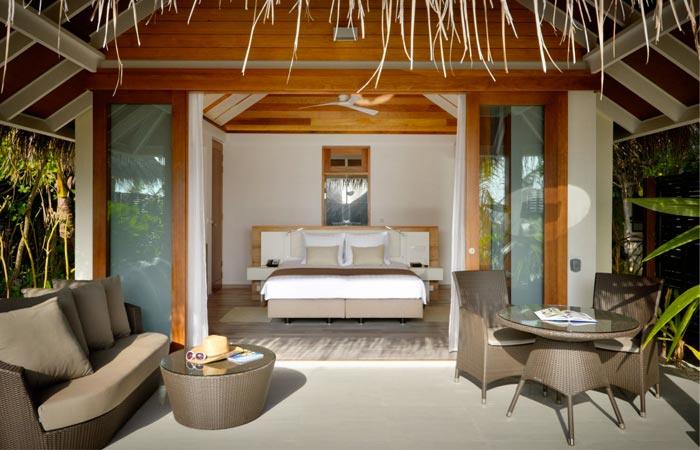 Ocean bungalow in the Maldives