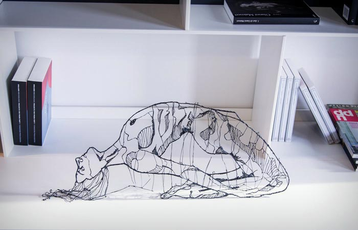 sculpture made with a 3d pen