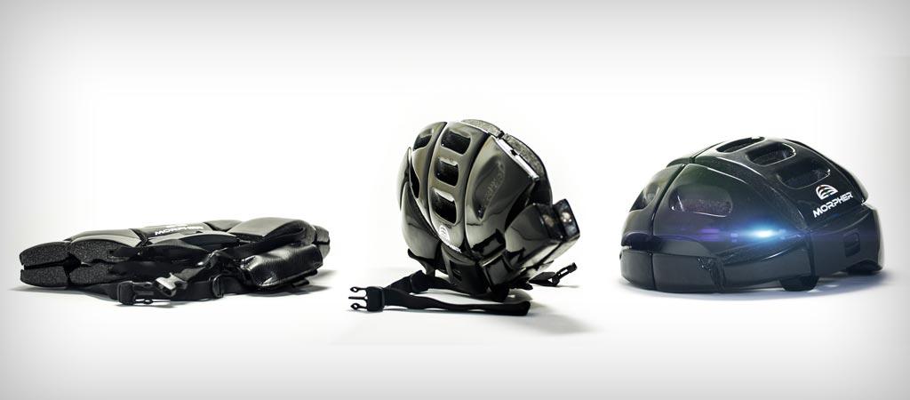 Morpher folding helmet