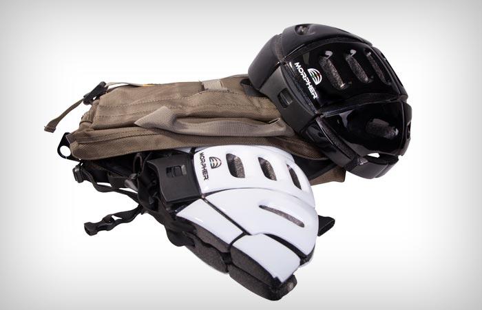 Morpher folding bicycle helmet