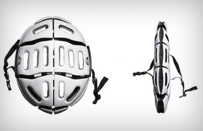 Morpher folding bicycle helmet