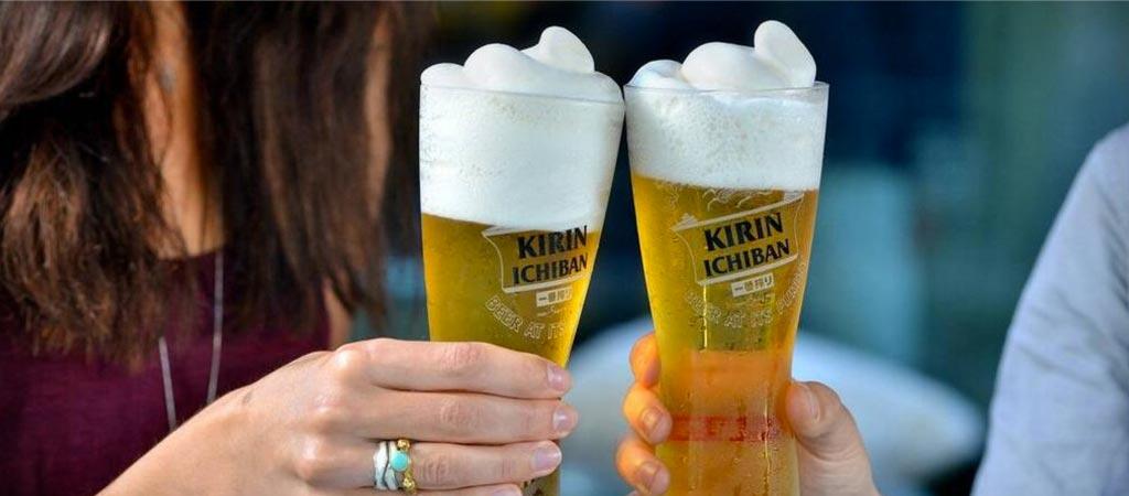 Kirin Ichiban frozen beer slushie maker