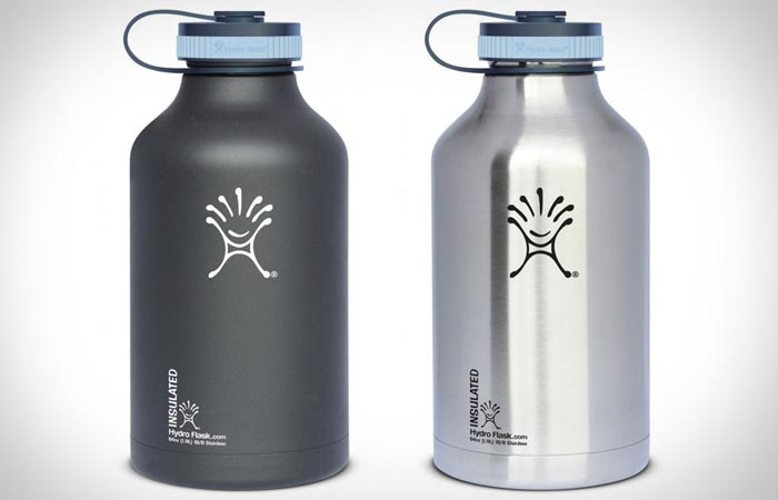 Vaccuum insulated beer growler