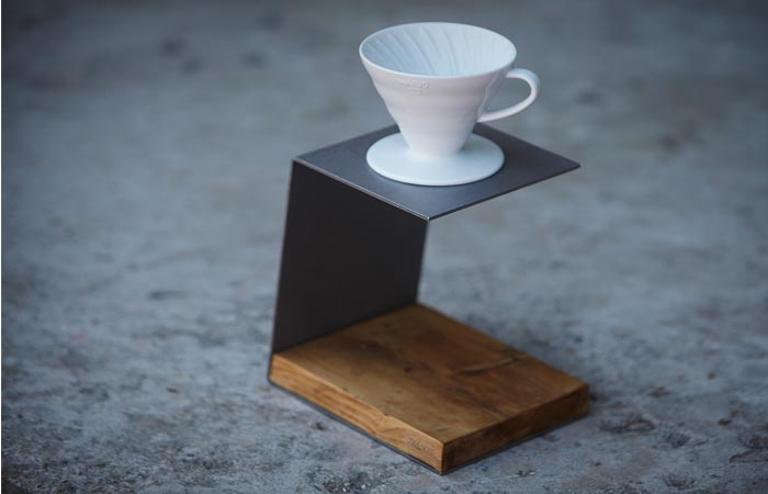Pour-over coffee stand from JM & Sons