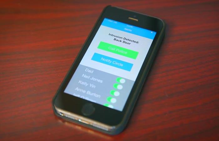 Korner home alarm app works with wifi