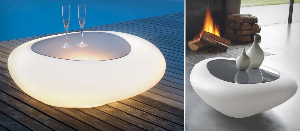 Kos coffee table with LED