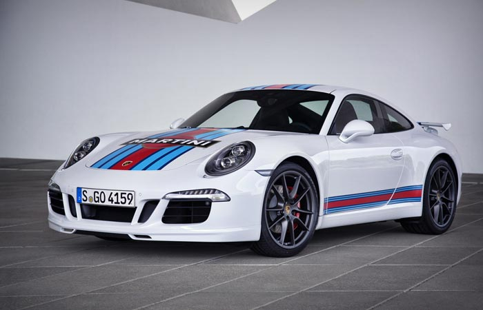 White Porsche 911 Martini edition