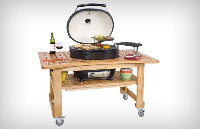 Promo oval ceramic grill