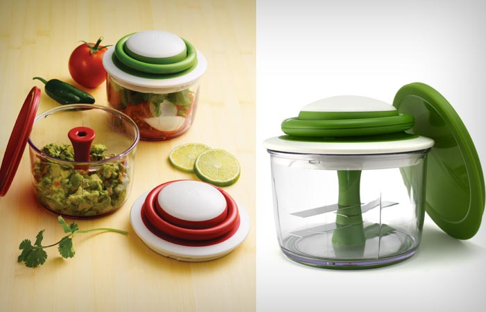 VeggiChop hand powered food chopper