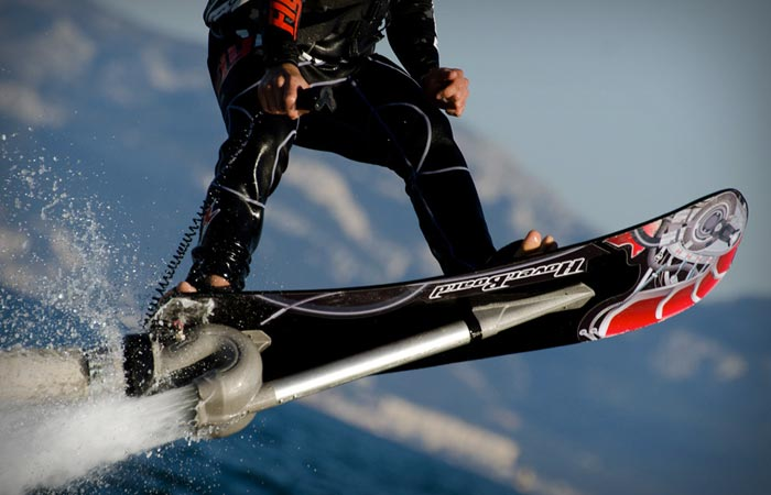 Water hoverboard closeup