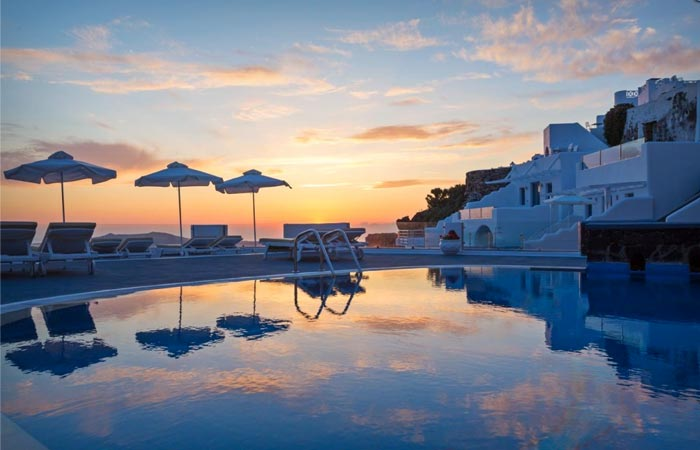 Pool at Angels and Stars in Santorini