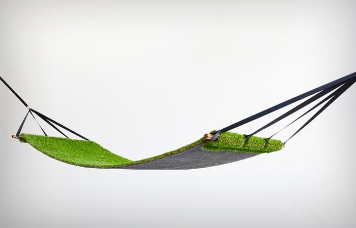 Grass material hammock