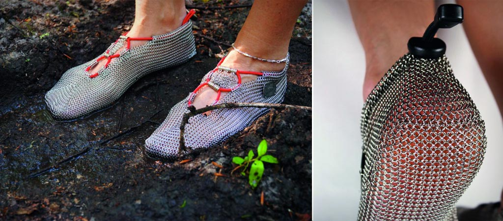 Paleo Barefoot chainmail running shoes
