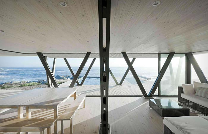 Interior design of a house on the coast of Chile