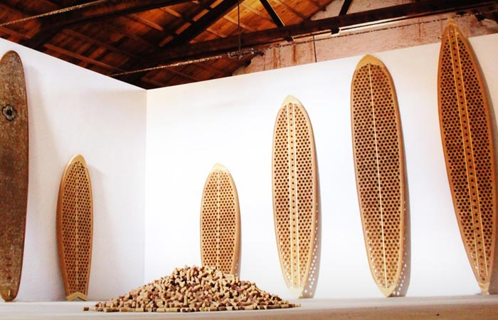 Recycled cork surfboards