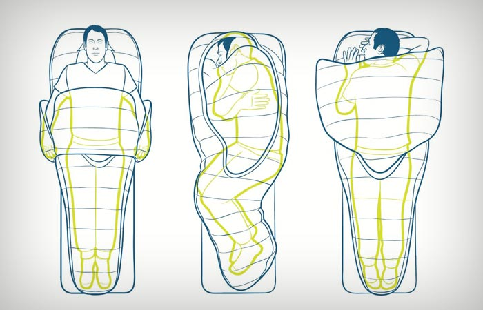 Bed-style sleeping bag