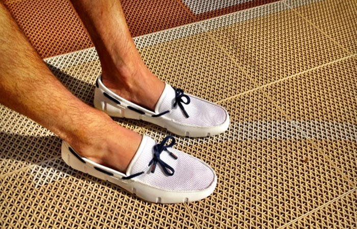 Swims Lace Up Loafers in White