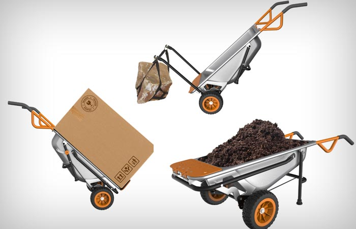 Worx Aerocart Multifunction Wheelbarrow Jebiga Design