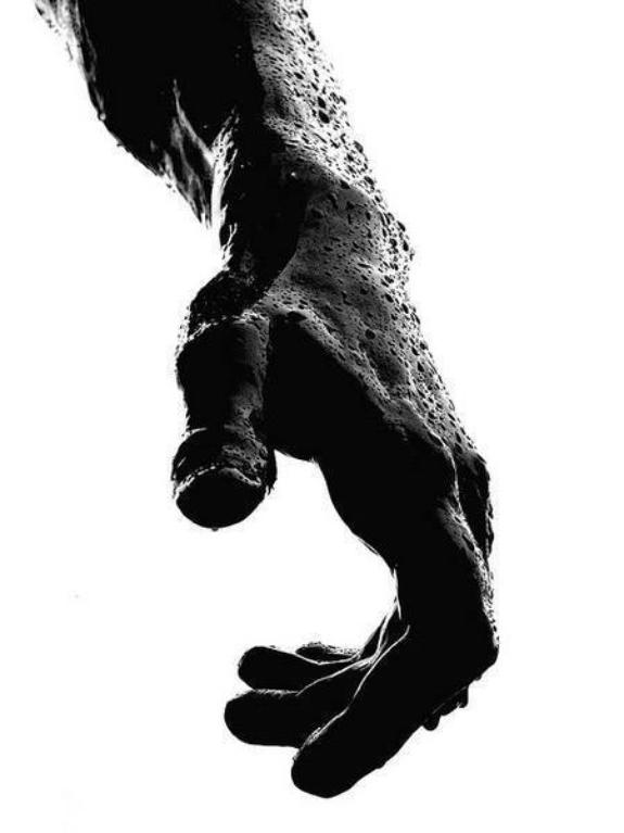 Masculine mens hand black and white photo