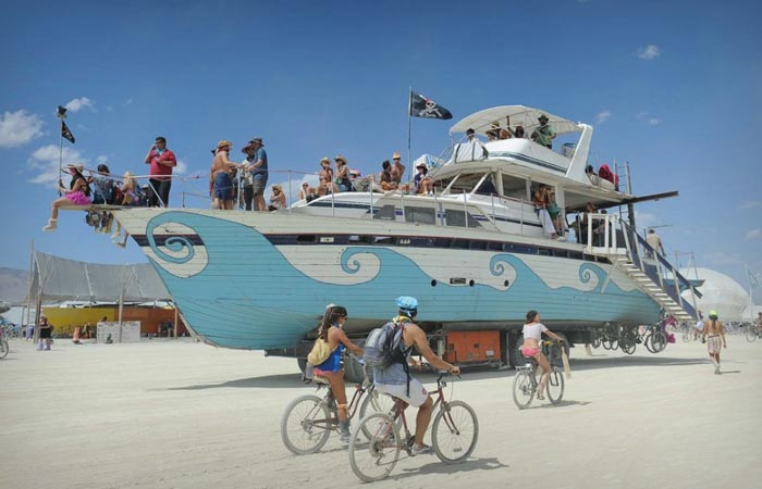 Boat at the Burning Man Festival