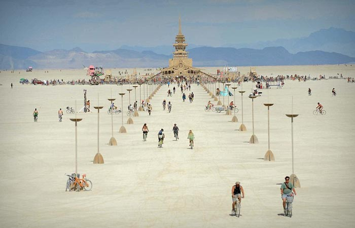 Installations at the Burning Man Festival