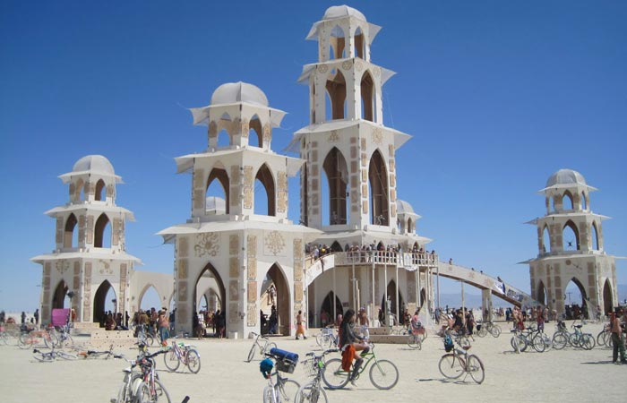 Architectural installation at Burning Man Festival